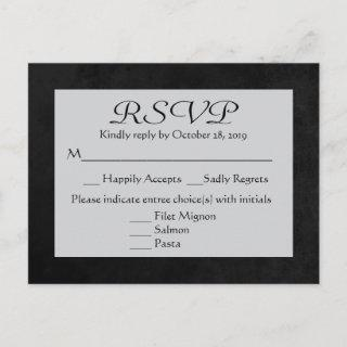 Vintage RSVP Gray & Black Chalkboard Post Card