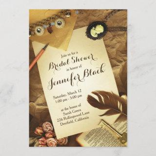 Vintage Shabby Chic Jewels Bridal Shower Invitation