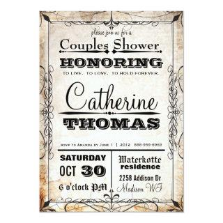 Vintage Skull & Flourishes Couples Shower Invite