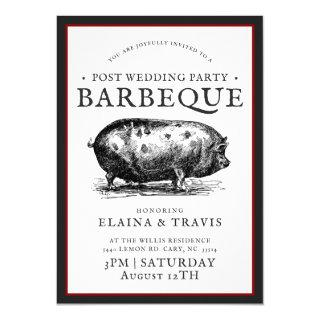 Vintage Style | Post Wedding | BBQ Pig Roast Invitations