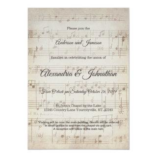 Vintage Symphony Musical Note Wedding Invites
