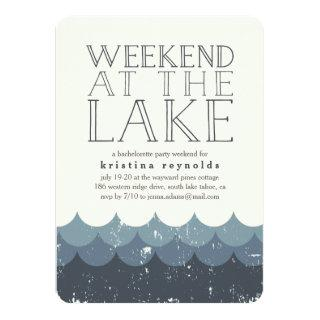 Vintage Waves Lake Weekend Getaway Invitations