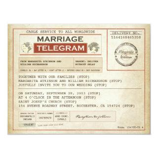 vintage WEDDING telegrams Invitations