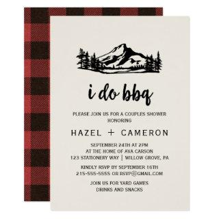 Vintage Wilderness | Buffalo Plaid I Do BBQ Invitations