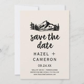 Vintage Wilderness | Plaid Save the Date Card