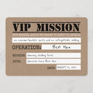 Vip Mission Funny Best Man Proposal