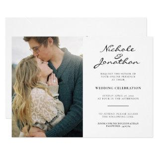 Virtual Online Photo Wedding Invitation