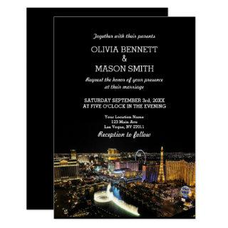 Viva Las Vegas Destination Wedding Invitations