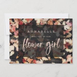 Vivid Foliage | Fall Flower Girl Proposal Card