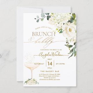 Watercolor Alabaster Roses Brunch Bubbly