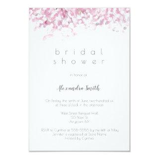Watercolor cherry blossom bridal shower invitation