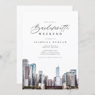 Watercolor Chicago Bachelorette Itinerary and