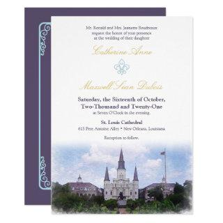 Watercolor Destination: New Orleans Invitation