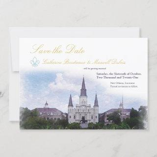 Watercolor Destination: New Orleans Save The Date