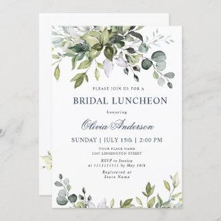 Watercolor Eucalyptus Greenery BRIDAL LUNCHEON Invitations