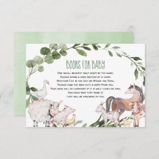 Watercolor farm animals books for baby enclosure card