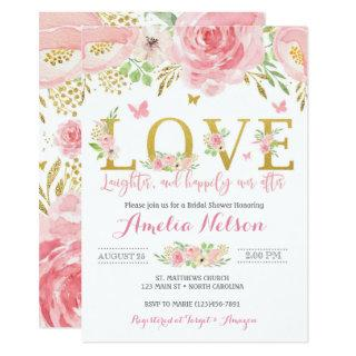 Watercolor Floral Butterfly Bridal Shower Invite