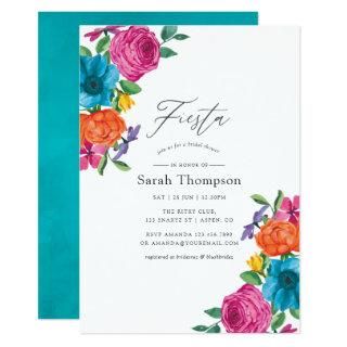Watercolor Floral Fiesta Bridal Shower Invitations