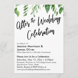 Watercolor Greenery After the Wedding Celebration