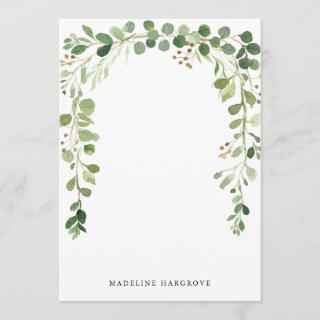 Watercolor Greenery | Personalized Stationery