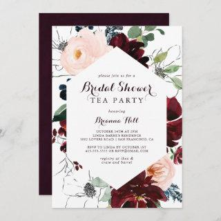 Watercolor Illustrated Bridal Shower Tea Party