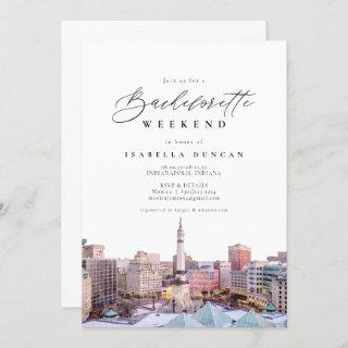 Watercolor Indianapolis Indiana Skyline City Invitations