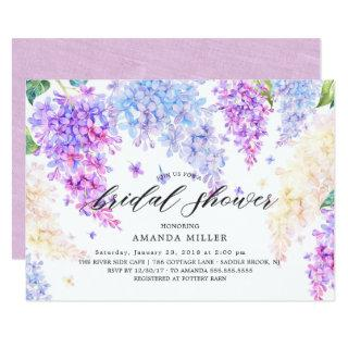 Watercolor Lilac Bridal Shower Invitation