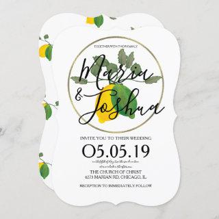 Watercolor Limoncillo Lime Lemon Invitation