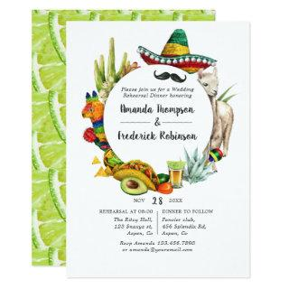 Watercolor Mexican Fiesta Rehearsal Dinner Invitations