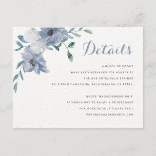 Watercolor Monogram Crest Wedding Details Enclosure Card