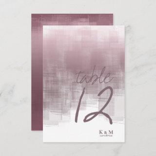 Watercolor Reflections Table Number Mauve ID774
