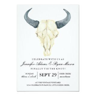 Watercolor Rustic Rodeo | Wedding Invitation