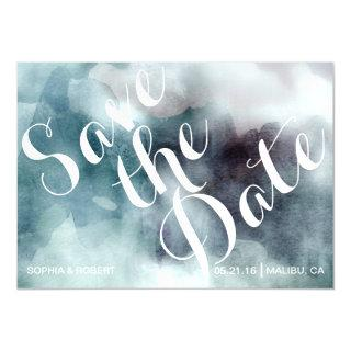 Watercolor trendy ikat Save the Date magnet