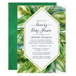 Watercolor Tropical Summer Drive By Shower Invitations