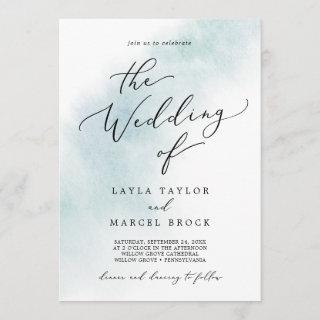 Watercolor Wash | Blue The Wedding Of Invitation