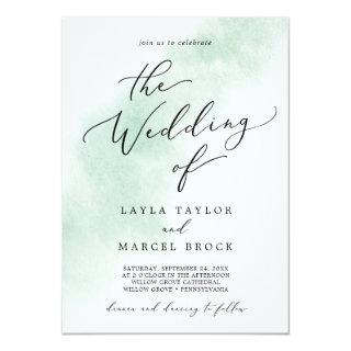 Watercolor Wash | Green The Wedding Of Invitations