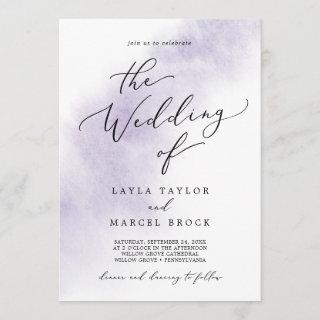 Watercolor Wash | Purple The Wedding Of Invitation