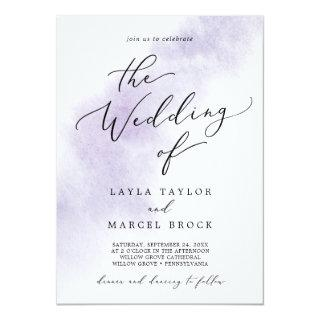 Watercolor Wash | Purple The Wedding Of Invitations