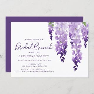 Watercolor Wisteria | Bridal Brunch Invitations