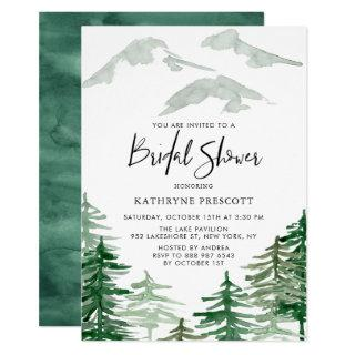 Watercolor Woodland Bridal Shower Invitations