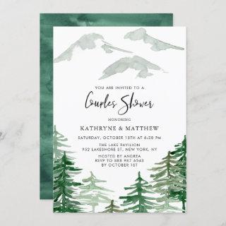 Watercolor Woodland Couples Shower Invitations