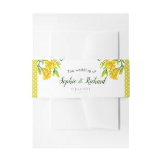 Watercolor Yellow Day Lilies Illustration Invitations Belly Band