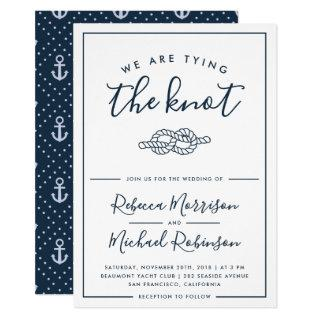 We Are Tying The Knot Nautical Wedding Invitation