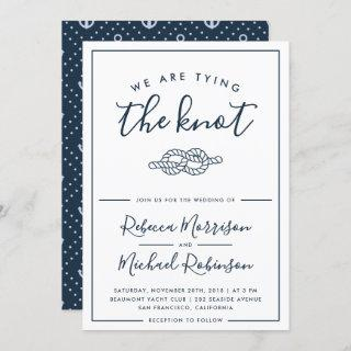 We Are Tying The Knot Nautical Wedding Invitations