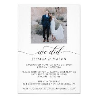 We Did - Celebration Invite Eloped Announcement