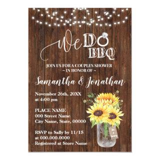 We do bbq couple shower sunflowers country wedding Invitations