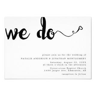 We do calligraphy hand lettering minimalist black Invitations
