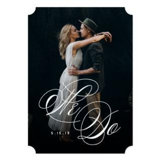 We Do Photo Wedding Invitations