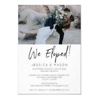 We Eloped Handwritten Invite Eloped Announcement