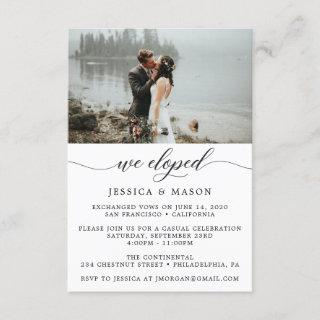 We Eloped Invite Eloped Announcement